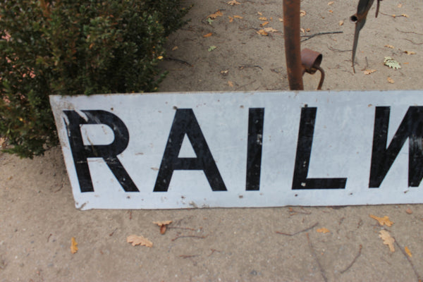Very Large Railway Crossing Sign