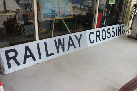 Large Railway Crossing Sign