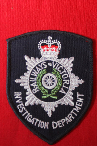 Obsolete Victoria Railways Investigation Department Patch