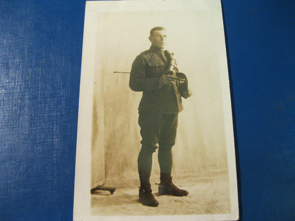 WW1 - Studio photo card of British 11th Hussars Soldier