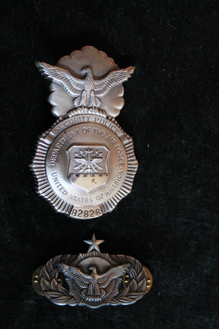 Dept of Air Force Security Police Badges