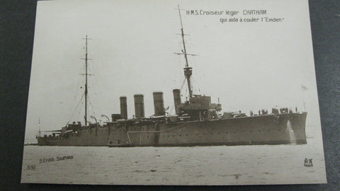 HMS Chatham Postcard WW1.