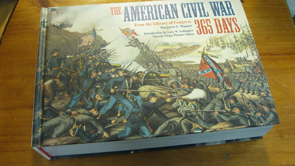 The American Civil War - 365 Days. Hardcover Book.