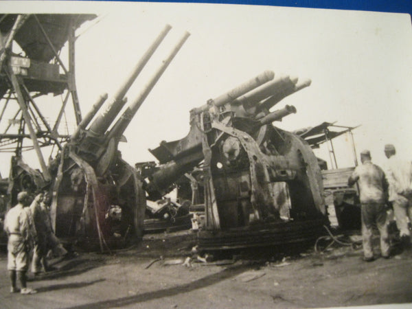 Original Photo of Damaged Japanese Artillery