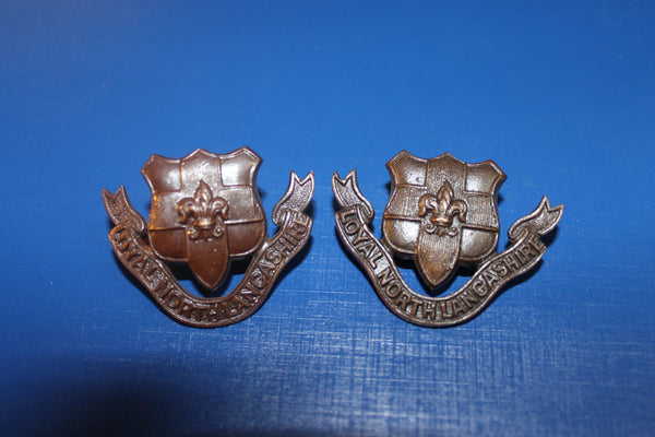 Loyal North Lancashire Regt Collar Pair