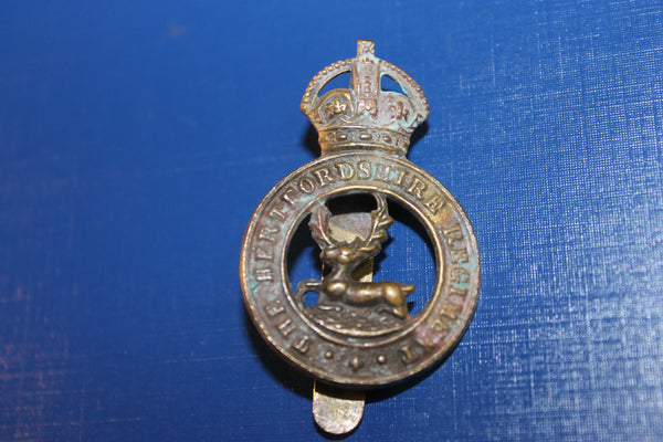 The Hertfordshire Regt Cap Badge
