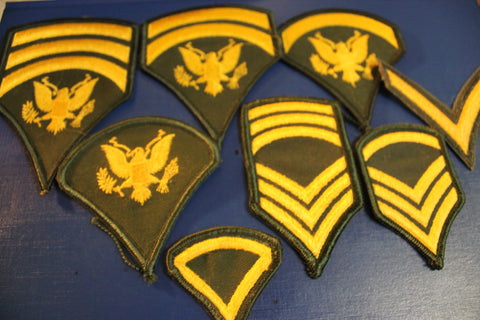 Assorted Lot of US Rank Patches