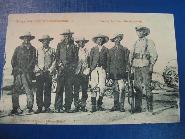 Boer War Hottenttots POW Post Card
