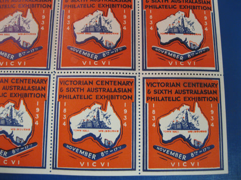 1934 - Victorian Philatelic Exhibition Cinderella Stamp