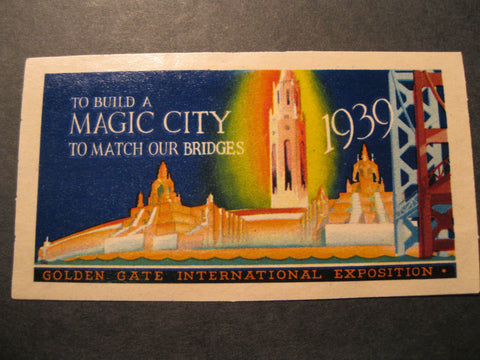 1939 - Golden Gate Exposition Sticker/Stamp