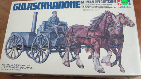 Tamiya 1:35 German Field Kitchen Model Kit.