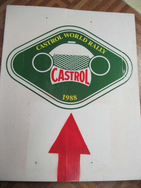 1988 - Castrol Rally Route Sign