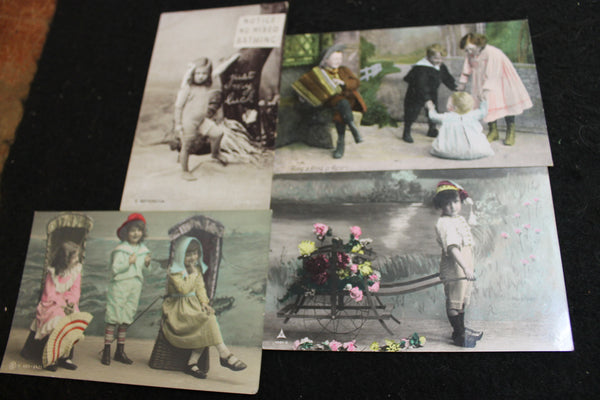 4 - Early 1900's Post Cards of Children