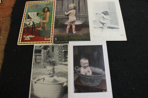 Early 1900's Bath Time Post Cards