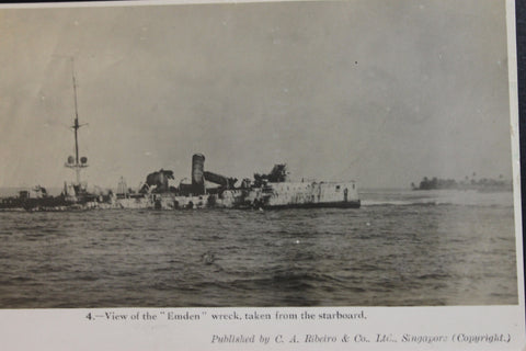 "Early "" Emden "" Wreck Post Card"
