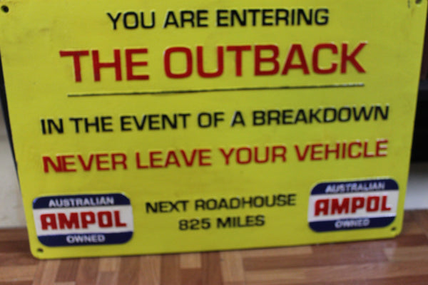 Large Ampol Outback Sign