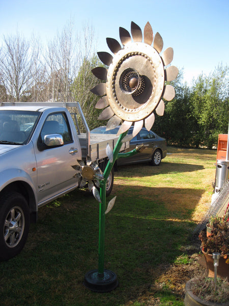 Large Sunflower Garden Art