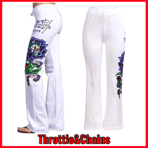 Graphic Print Comfy Wide Leg High Waist Long Women's  Pants