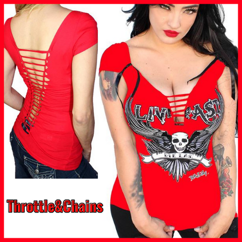 Iron Cross Angel Wings Graphic Motorcycle Women's Tank Top