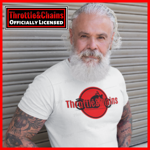 The Original Orange/Black Logo Design Ultra Cotton T-Shirt By ThrottleandChains.com