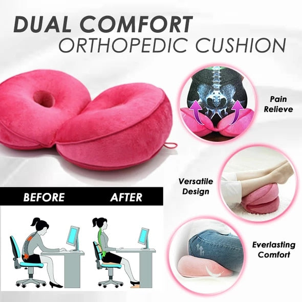 Dual Comfort Orthopedic Cushion Pillow For Back Pain