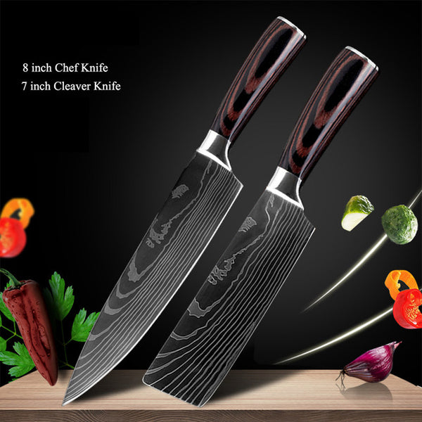 Japanese Chef Knife Set - Stainless Steel Blades