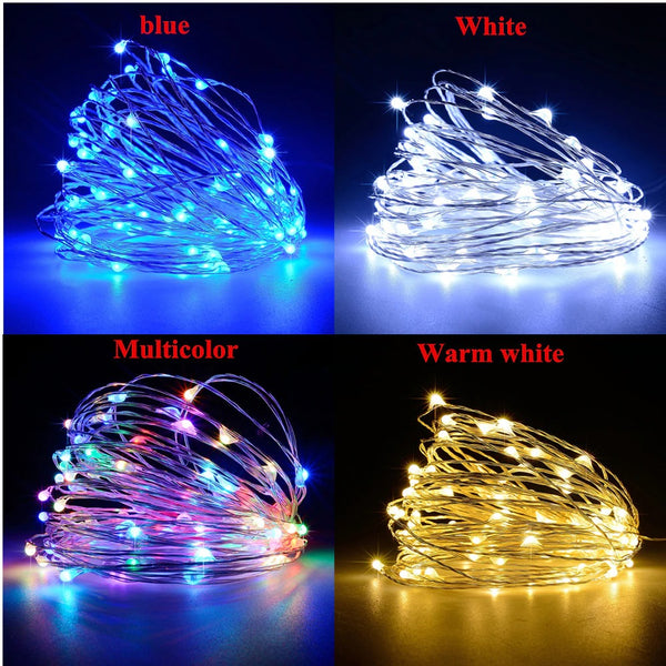 Solar Christmas Lights LED Outdoor Decorations Lamp String Lights