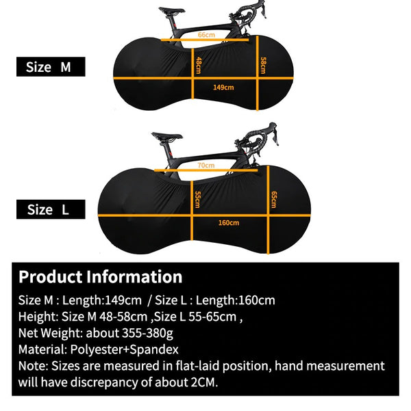 Bike Cover Indoor Bicycle Wheel Cover for Storage & Transportation