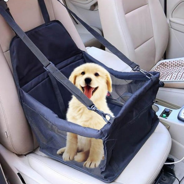 Dog Car Seat - Travel Pet Carrier Bag - Harness, Booster, Cover