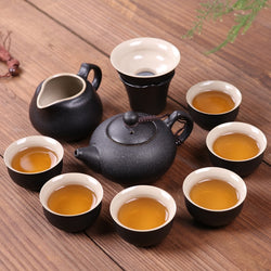 Chinese Teapot Ceramic Set Kettle with Tea Cups