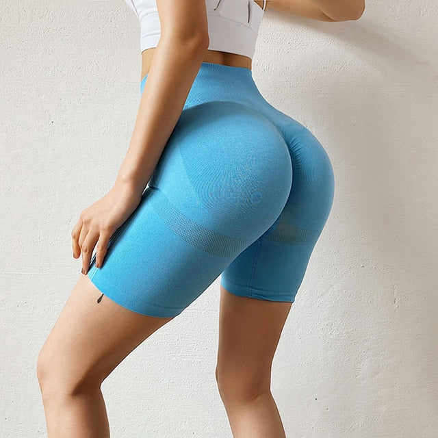 Women's High Waist Workout Yoga Shorts