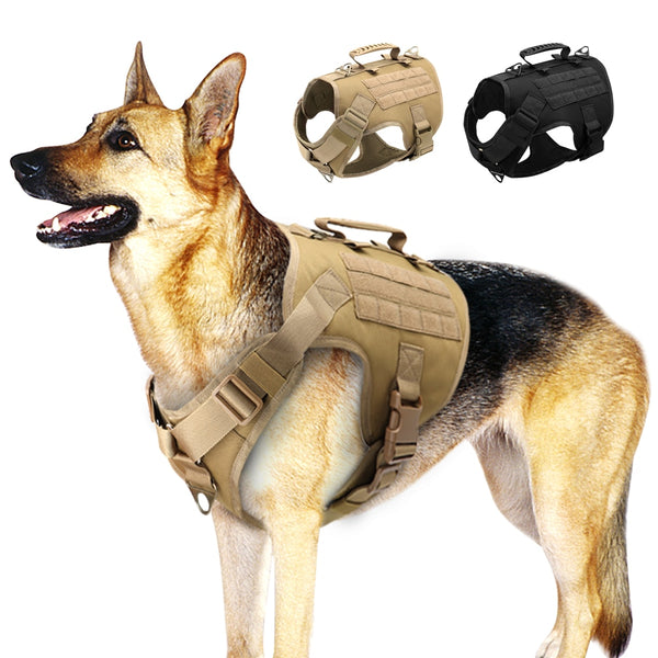 Adjustable Tactical Dog Harness for Small Medium Large Dogs
