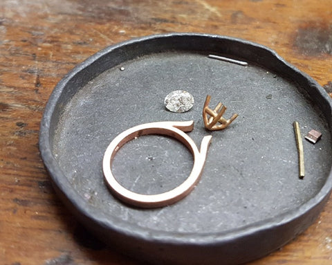 hand made diamond ring