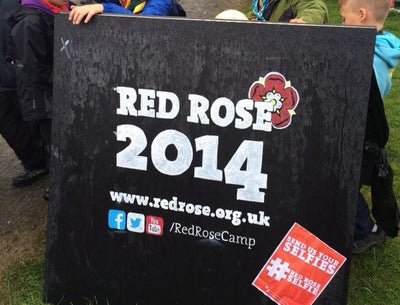 Red Rose Camp 2014 - Scouts try out Blackboard paint
