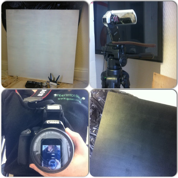 Chalkboard and filming