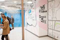 quirky whiteboard walls