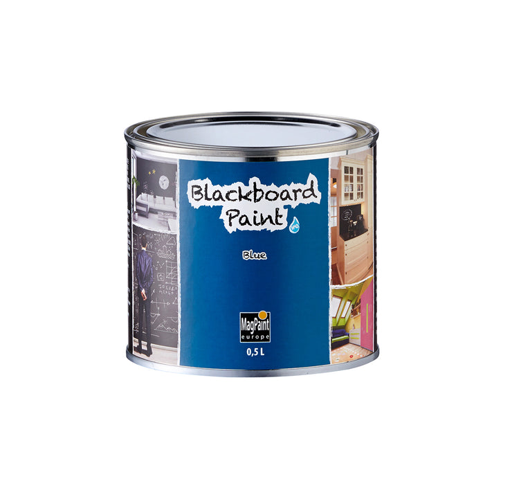Blackboard Paint - blue tin