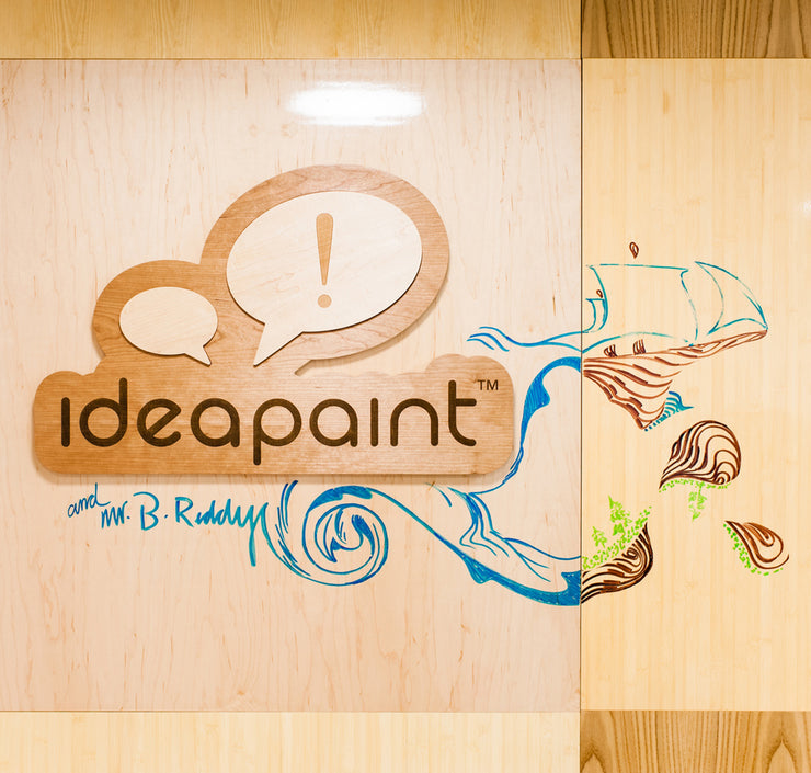 IdeaPaint Clear Whiteboard Paint on wood