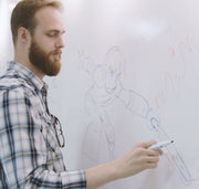IdeaPaint Create Whiteboard Paint man drawing