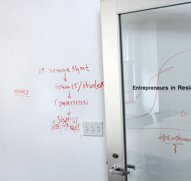 IdeaPaint Create Whiteboard Paint on an office wall