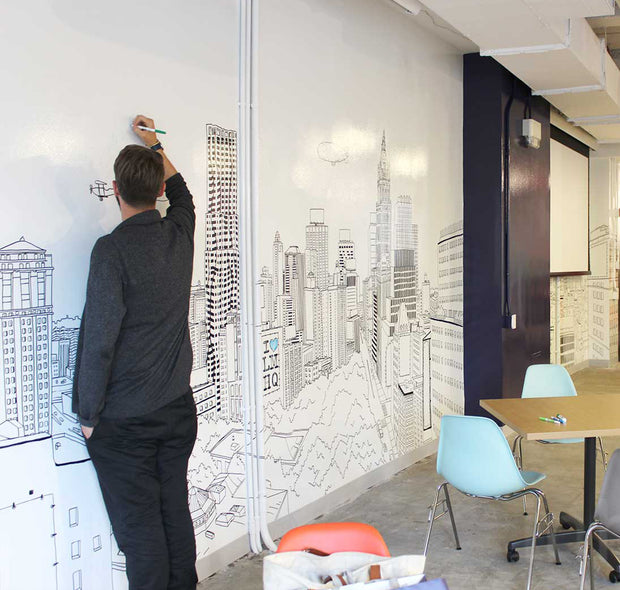 IdeaPaint Create Whiteboard Paint on a large wall