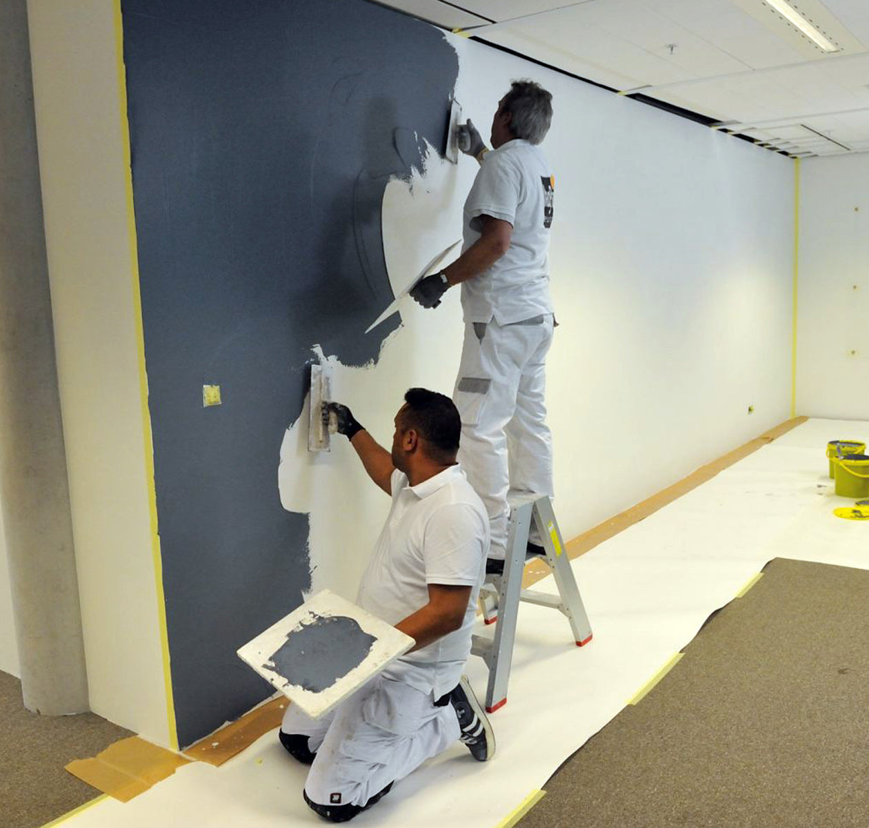 Professional installation of writable, magnetic and projection surfaces