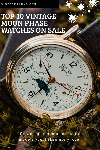 Top 10 Vintage Moon Phase Watches for Sale, Online Store with Photos