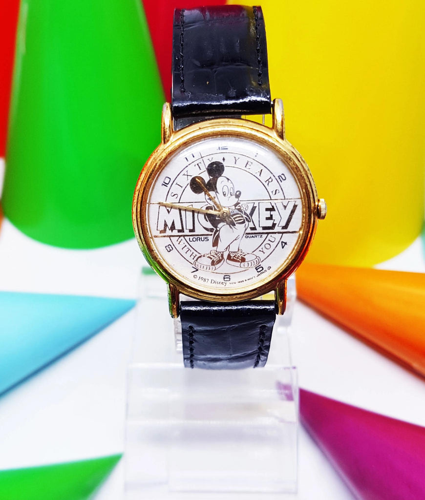 1987 Lorus v515-1858 R 60 Years of Mickey Mouse Disney Watch