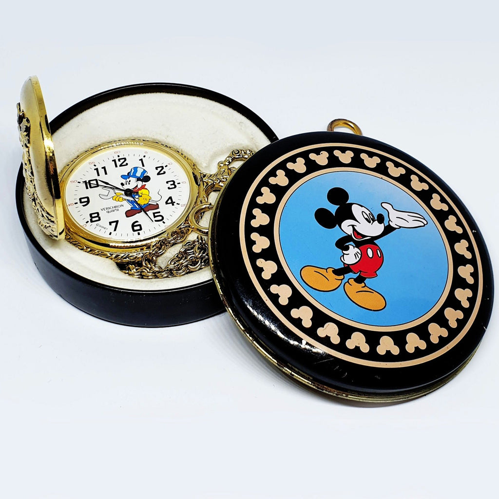 Vintage Mickey Mouse Pocket Watch