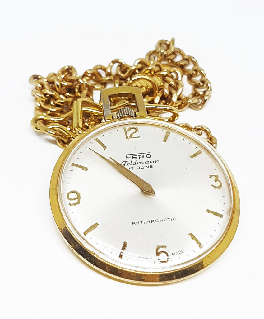 Fero Feldmann 17 Rubis Pocket Watch | Can Be Engraved
