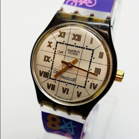 1994 Ovation SLM103 Vintage Musical Swatch Watch para hombres y mujeres