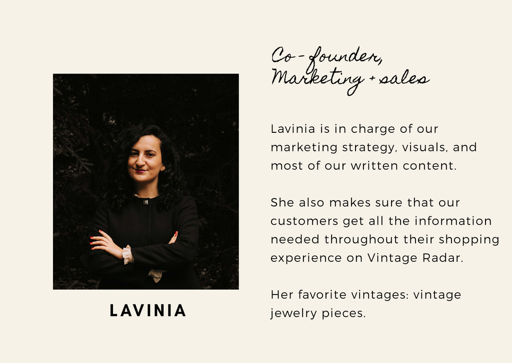 Lavinia, Co-founder of Vintage Radar