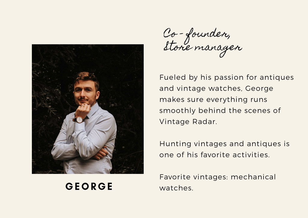 George, Co-founder of Vintage Radar
