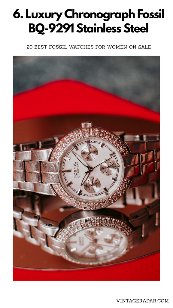 Silver-tone Fossil Chronograph Watch